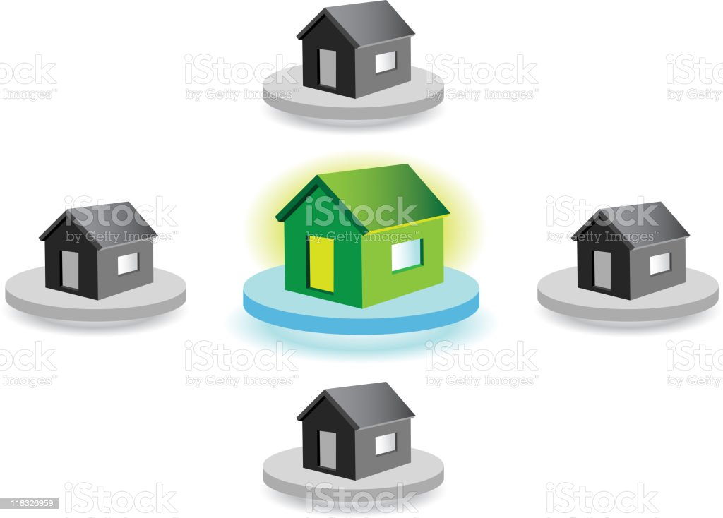 Different Home royalty-free stock vector art