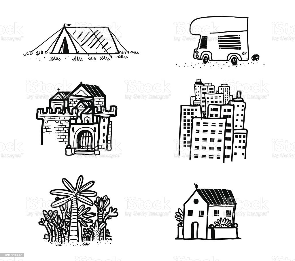 Different homes royalty-free stock vector art