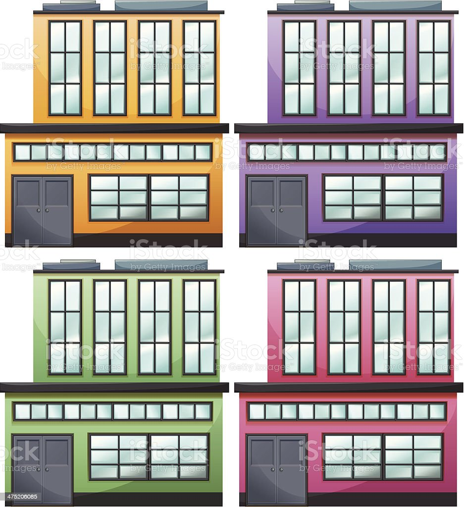 Different house designs royalty-free stock vector art