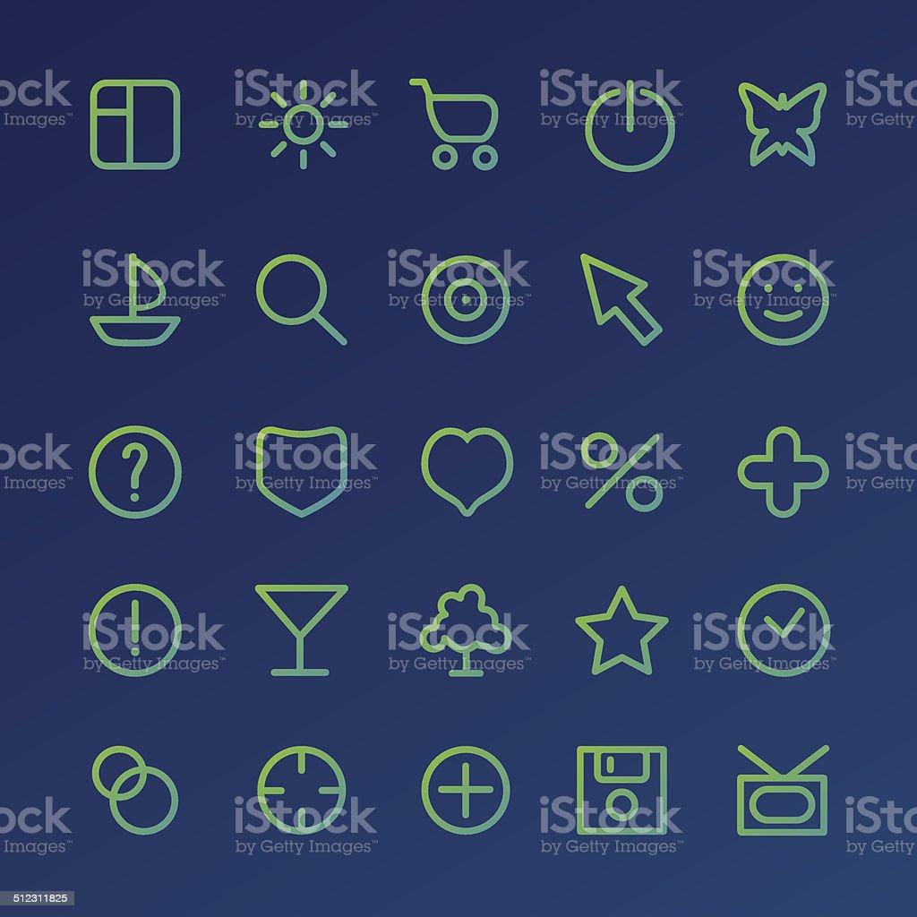 Different icons set vector art illustration