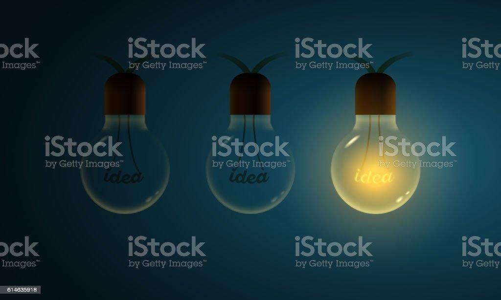 Different ideas concept illustration vector art illustration