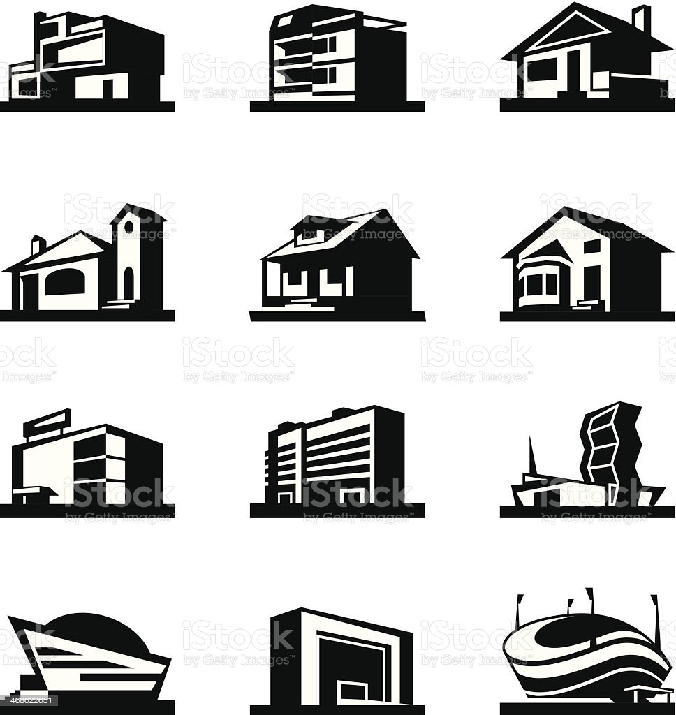 Different images of construction  vector art illustration