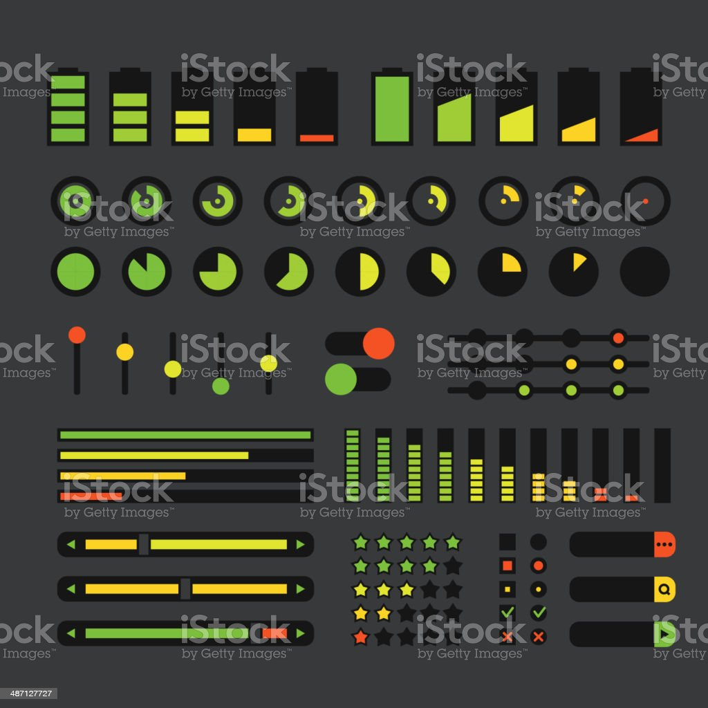 Different interface design elements royalty-free stock vector art