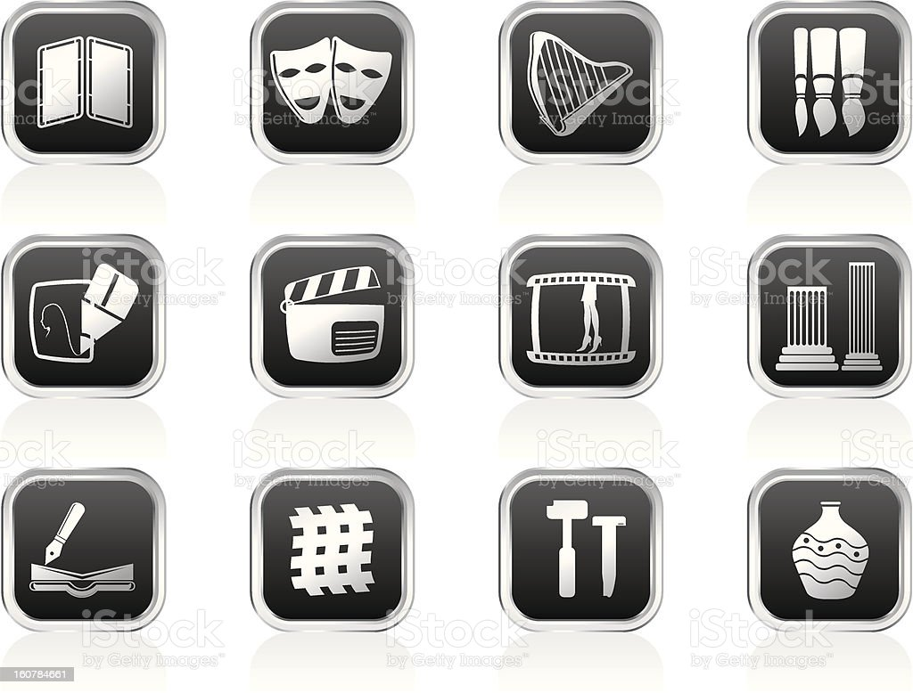 different kind of Arts Icons royalty-free stock vector art