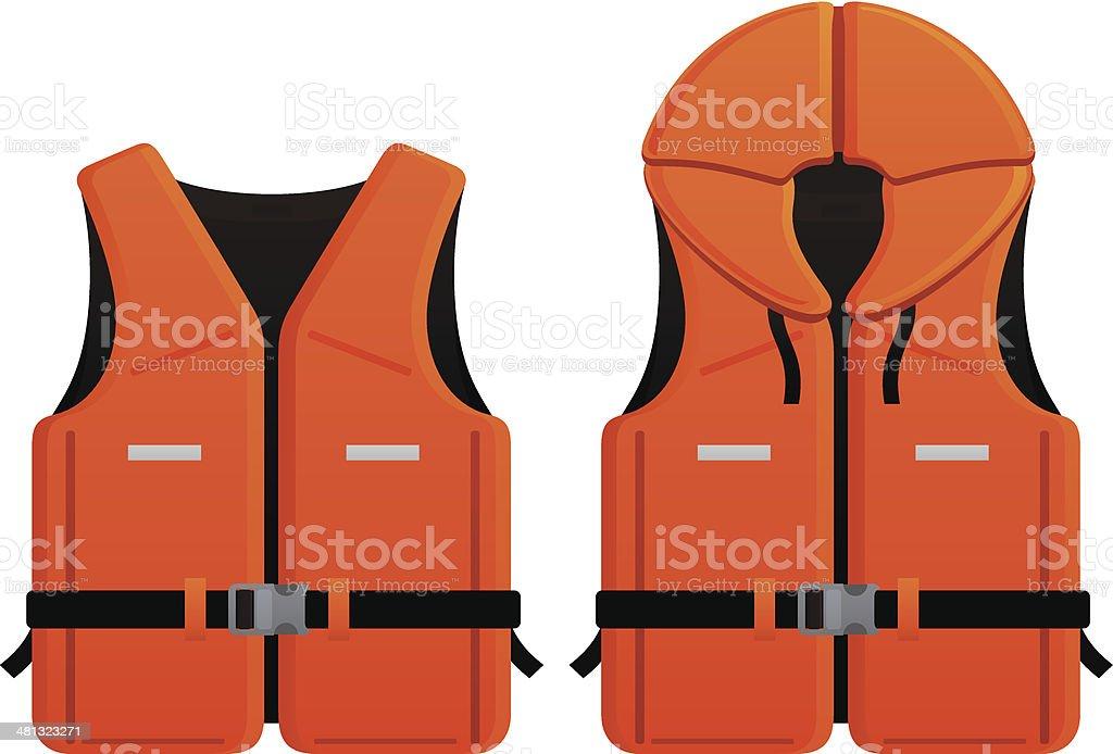 2 different life jacket vector graphics vector art illustration