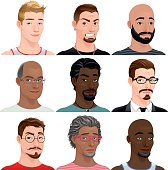 Different male avatars
