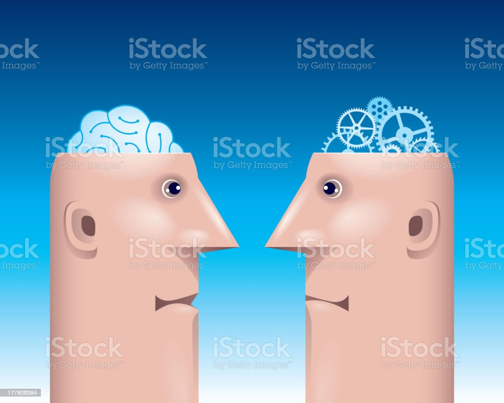 Different mind royalty-free stock vector art