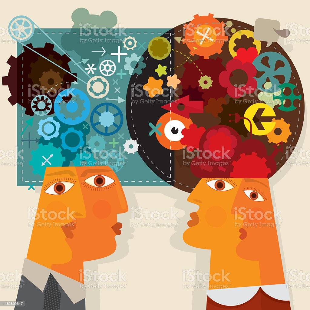 Different Minds royalty-free stock vector art