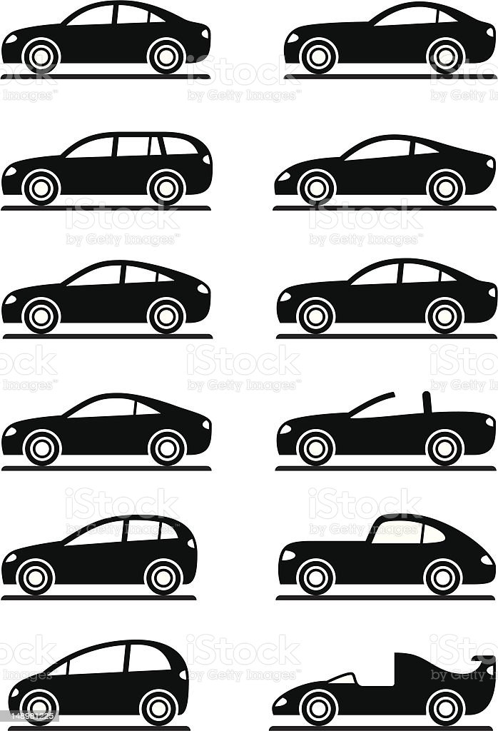 Different modern cars royalty-free stock vector art