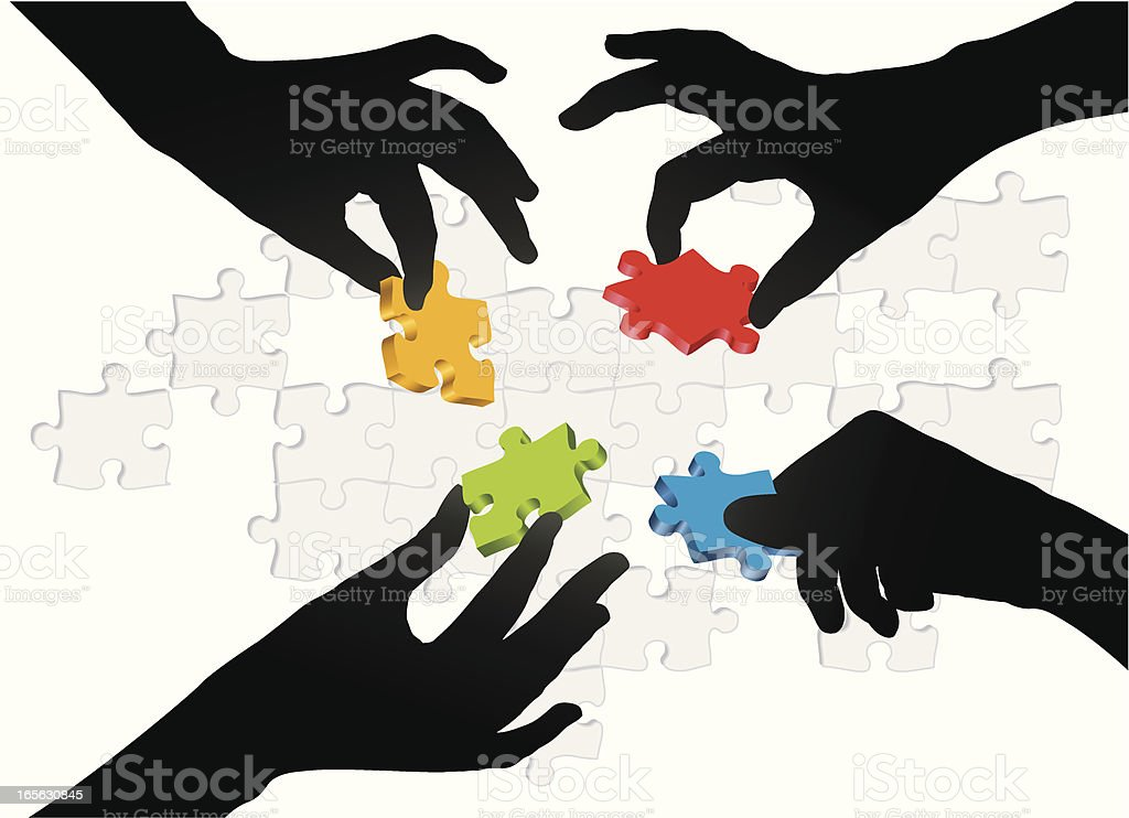 Different Options vector art illustration