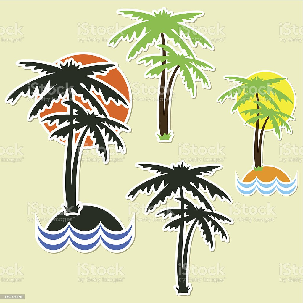 Different palm royalty-free stock vector art
