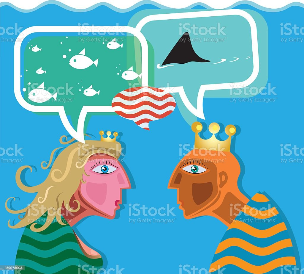 Different perceptions royalty-free stock vector art