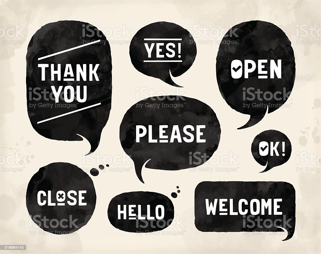 Different shapes for communication and market themes vector art illustration