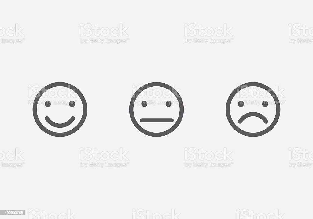 Different smiley faces icons vector art illustration