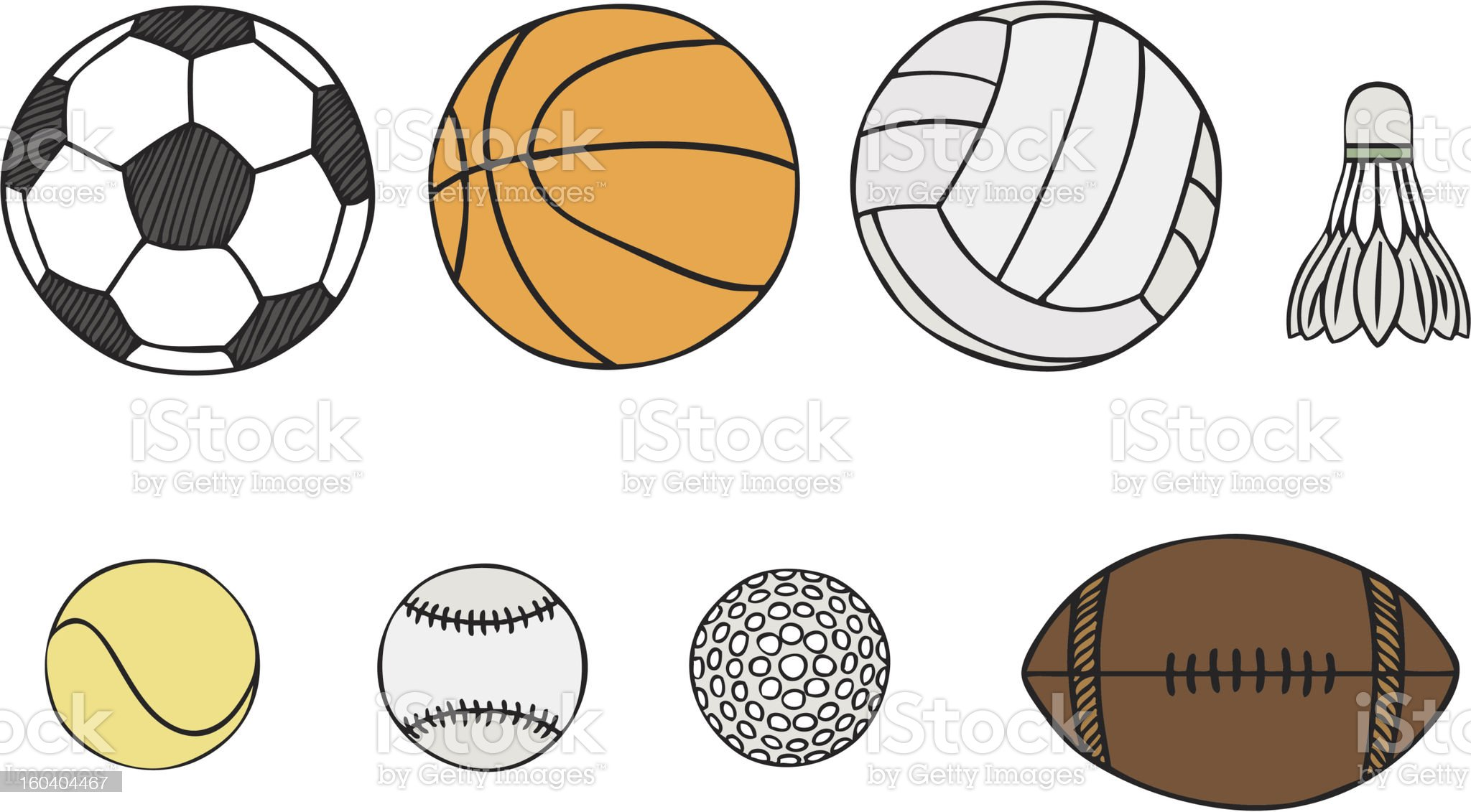 different sport balls vector royalty-free stock vector art