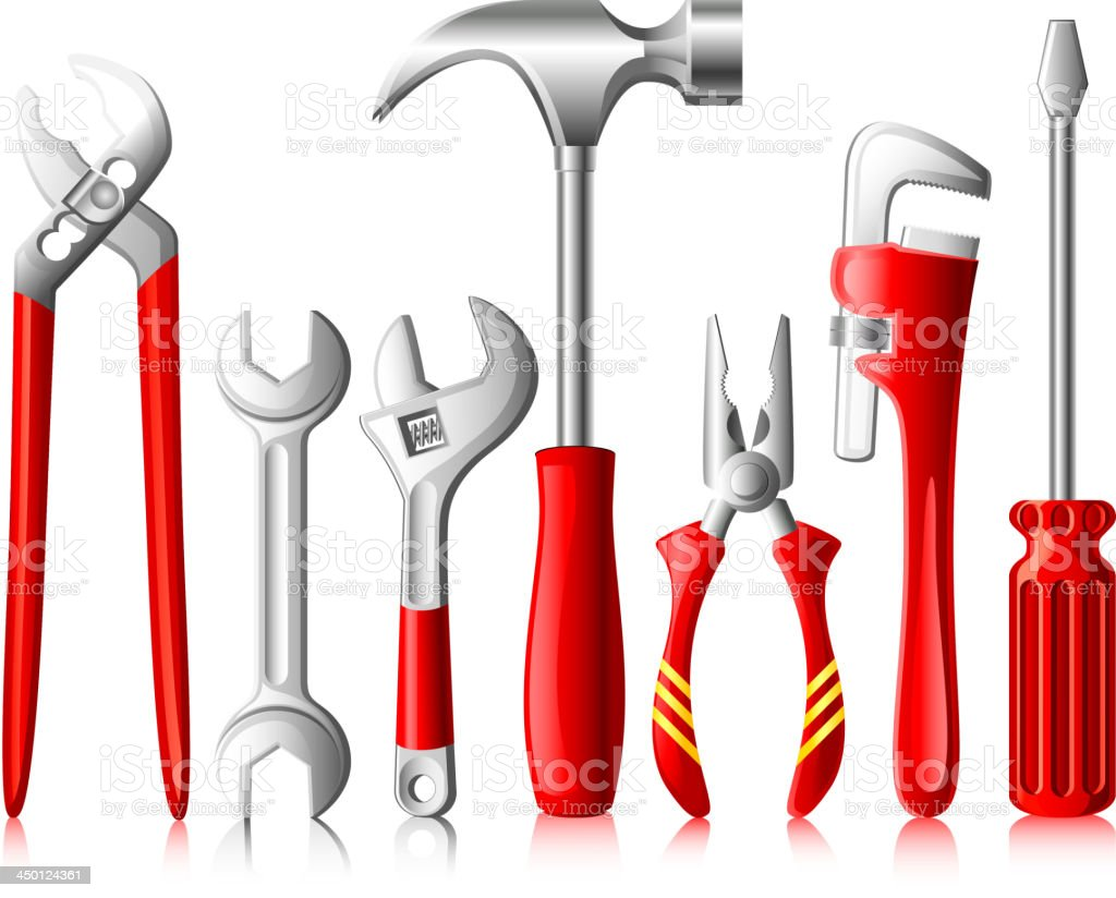 Different Tools royalty-free stock vector art