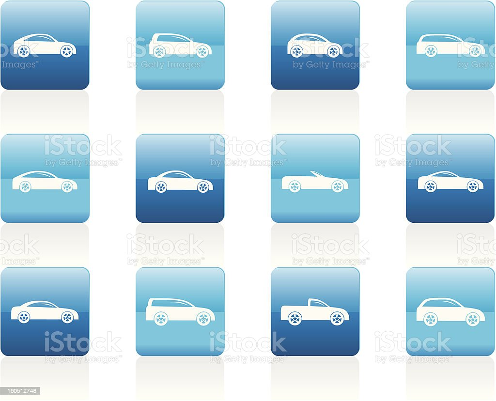 different types of cars icons royalty-free stock vector art