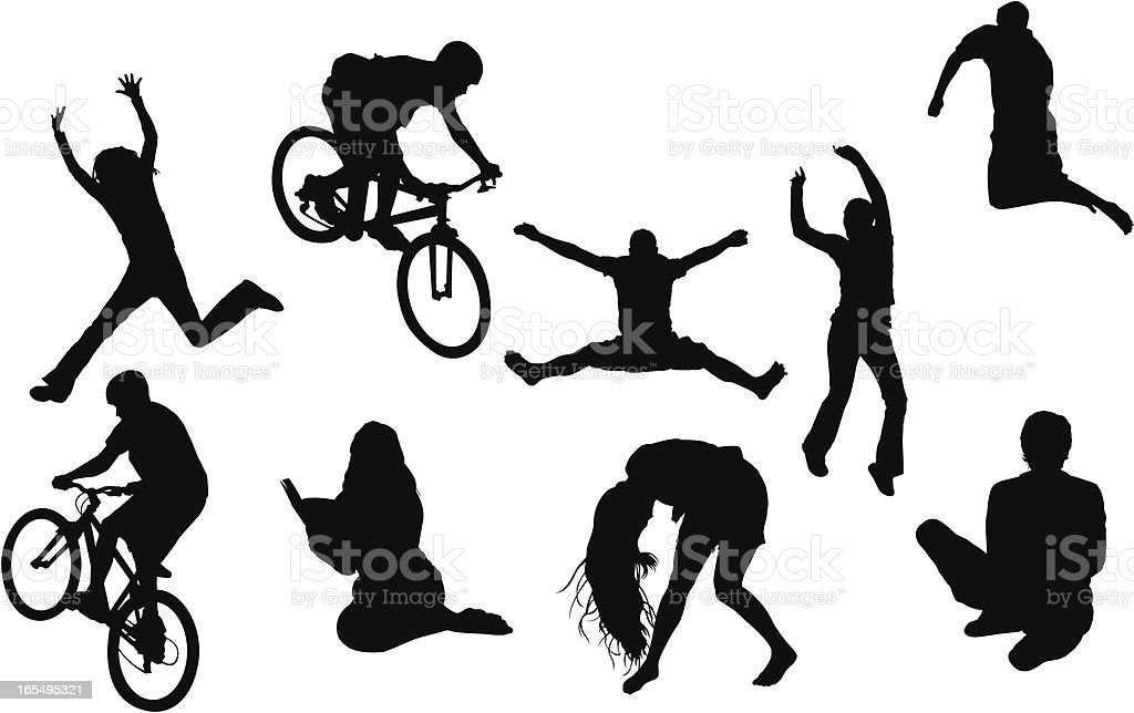 Different types of people vector art illustration