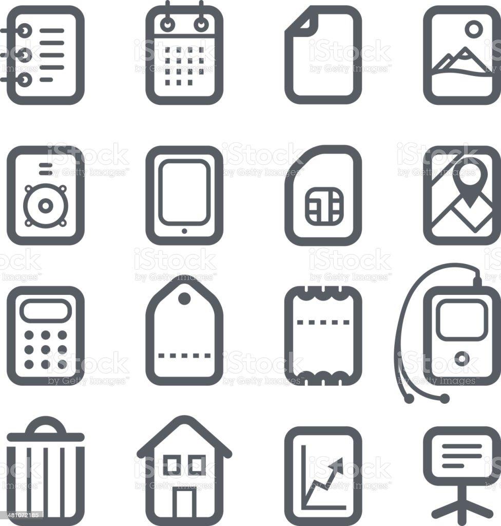 Different vertical Web icons set vector art illustration