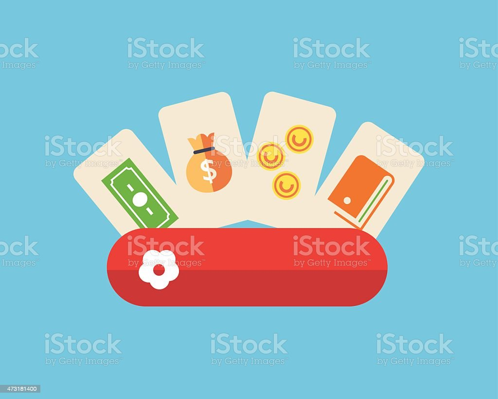 Different ways of payment online vector art illustration