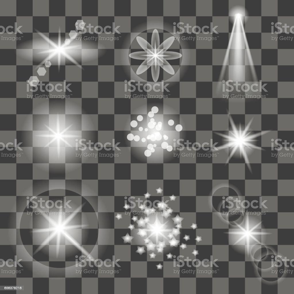 Different White Lights vector art illustration