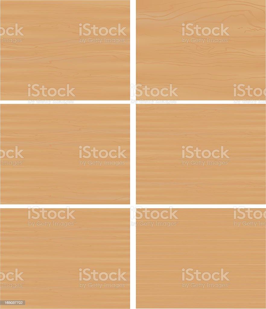 different woodgrain panels royalty-free stock vector art