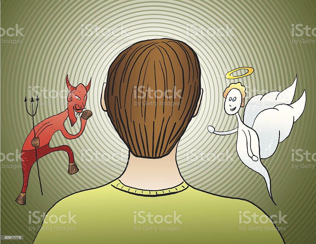 Difficult decisions (vector & jpeg) vector art illustration