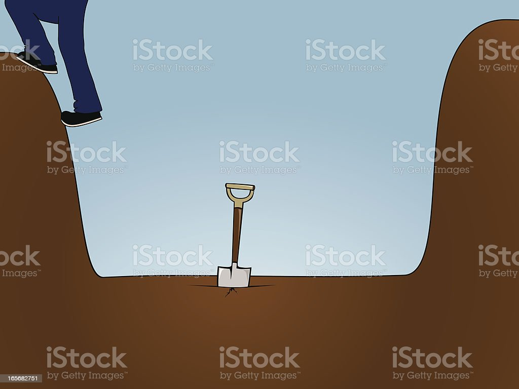 Dig Yourself Out royalty-free stock vector art