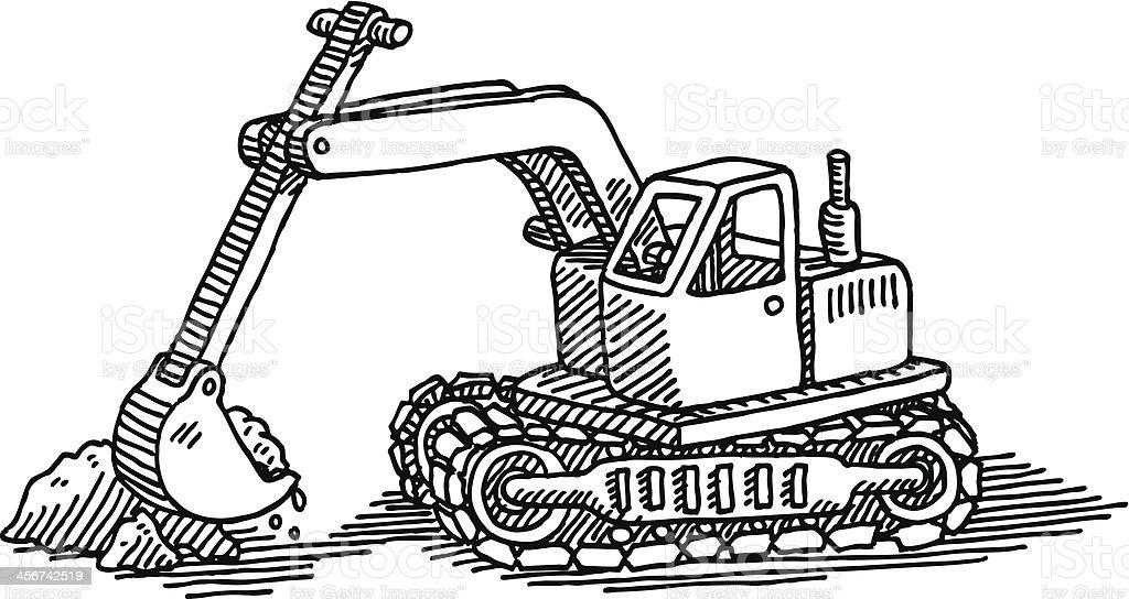 pelle mcanique jouet dessin stock vecteur libres de droits libre de droits