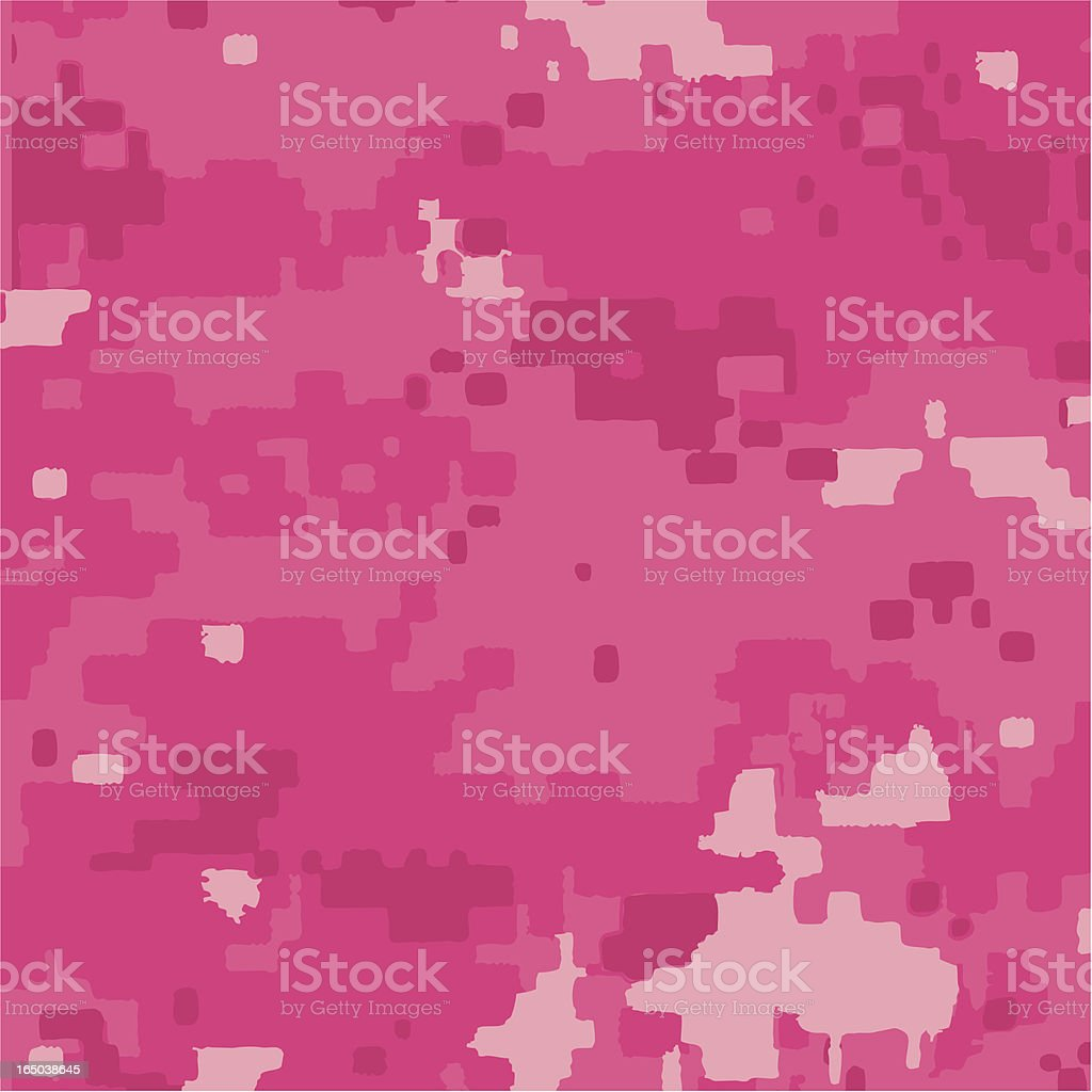Digi Pink Camouflage Pattern royalty-free stock vector art