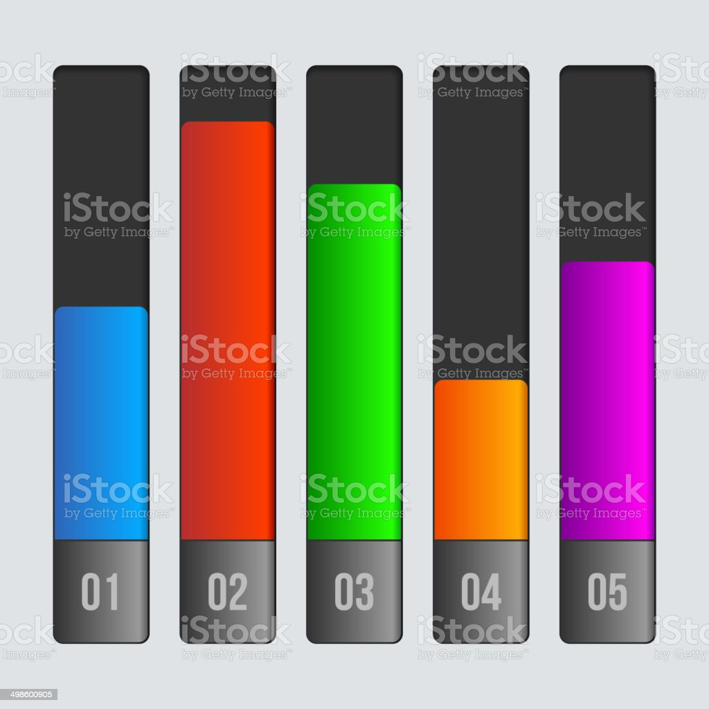 Digital Abstract Color Infographics Illustration. Vector. royalty-free stock vector art