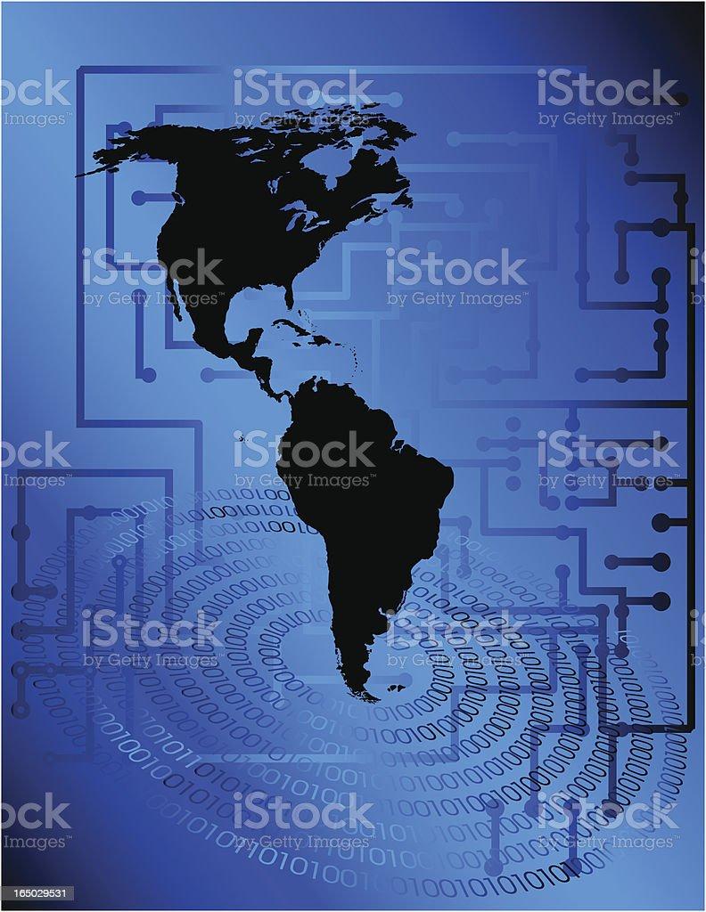 Digital Americas royalty-free stock vector art