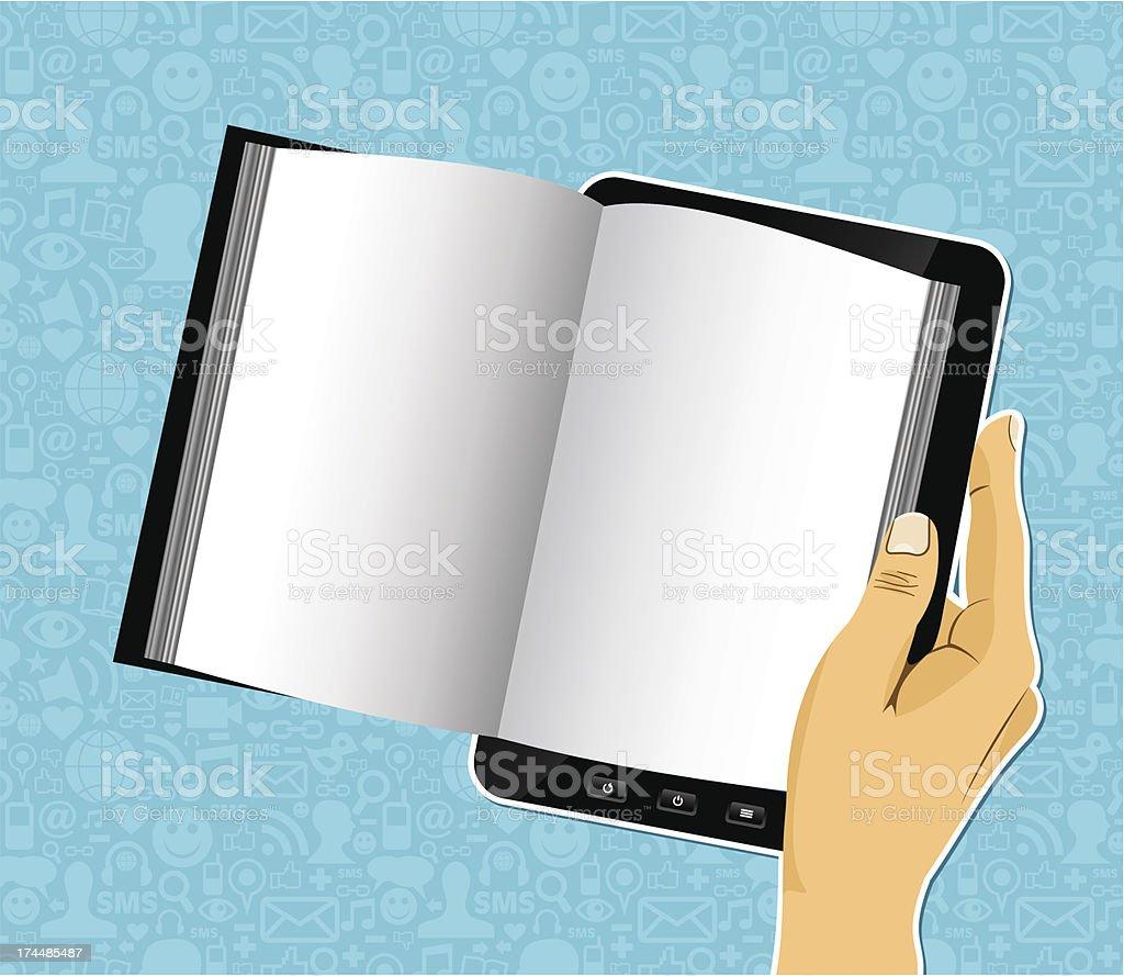 Digital book read royalty-free stock vector art