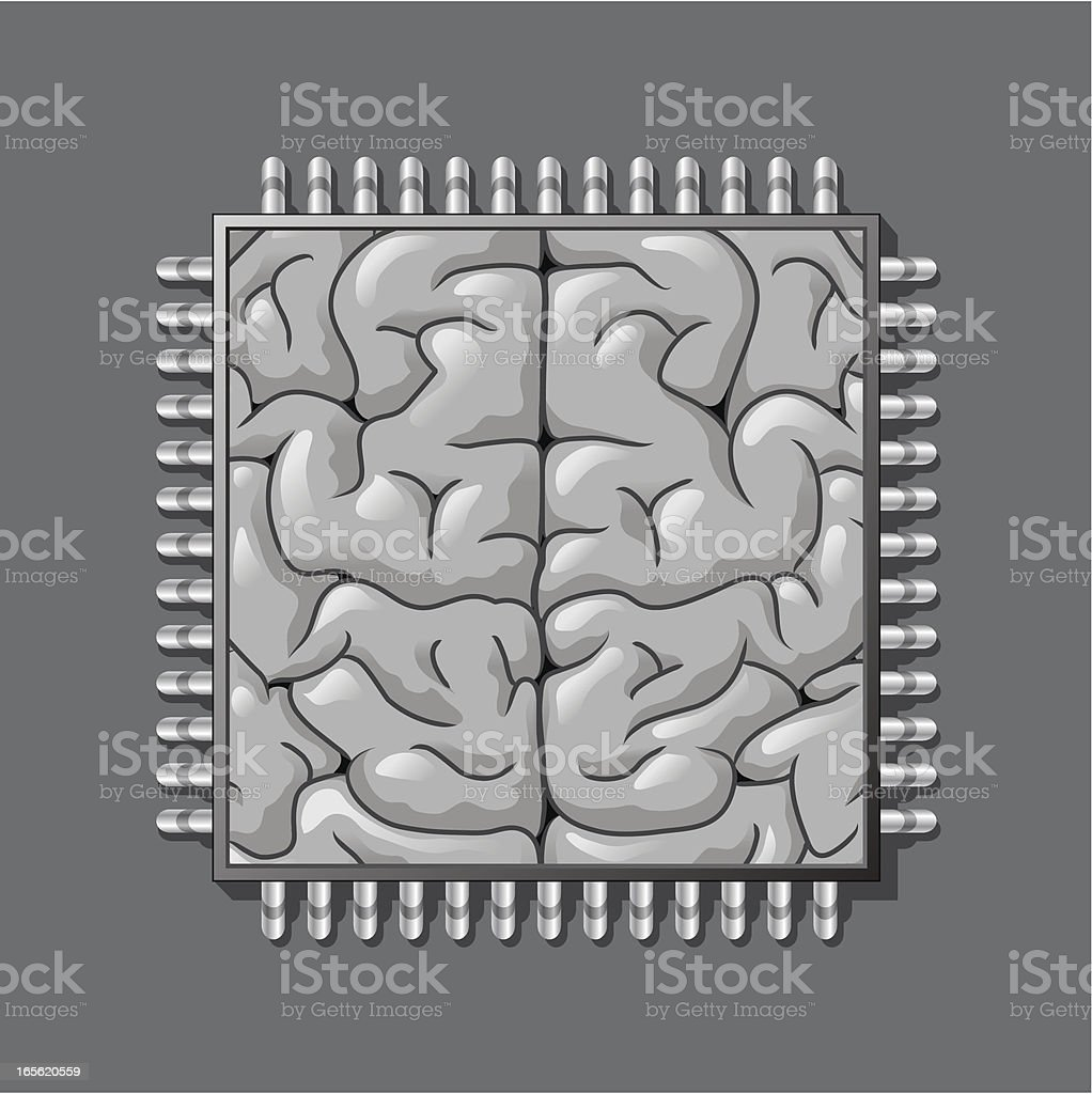 Digital brain royalty-free stock vector art