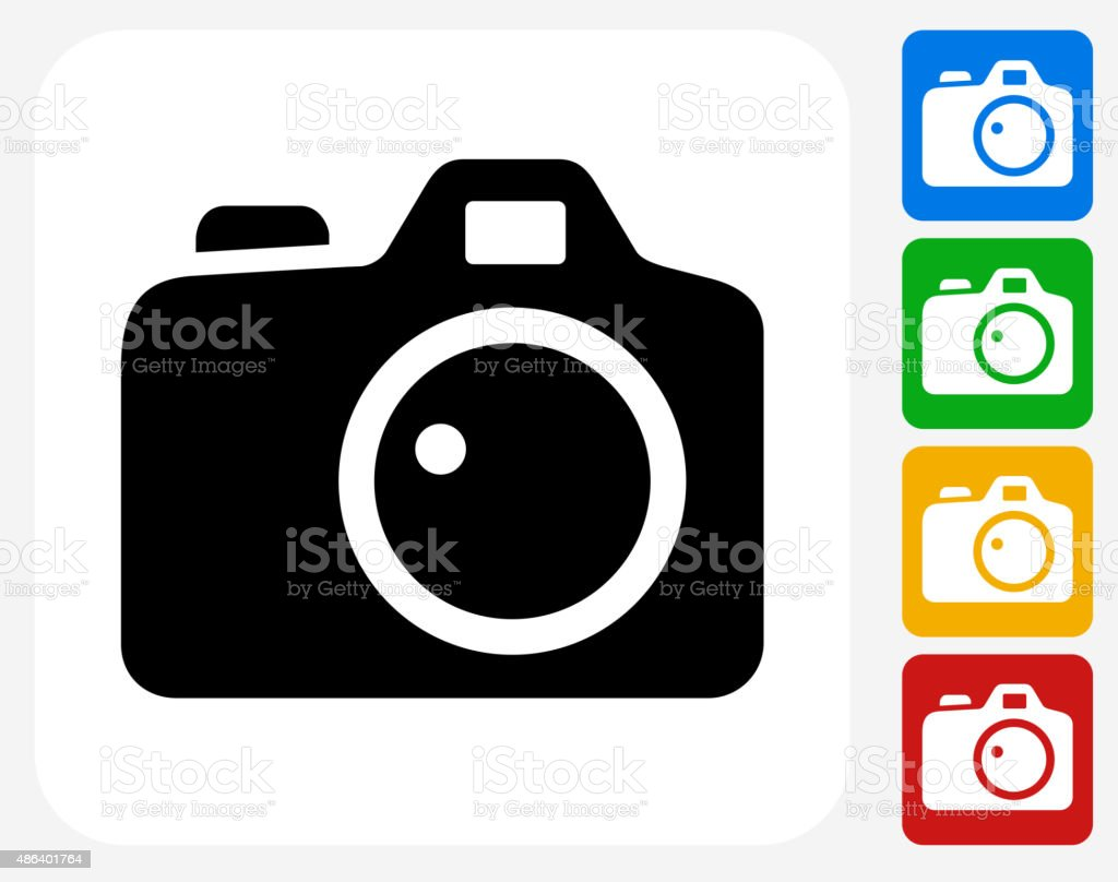 Digital Camera Icon Flat Graphic Design vector art illustration