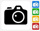 Digital Camera Icon Flat Graphic Design