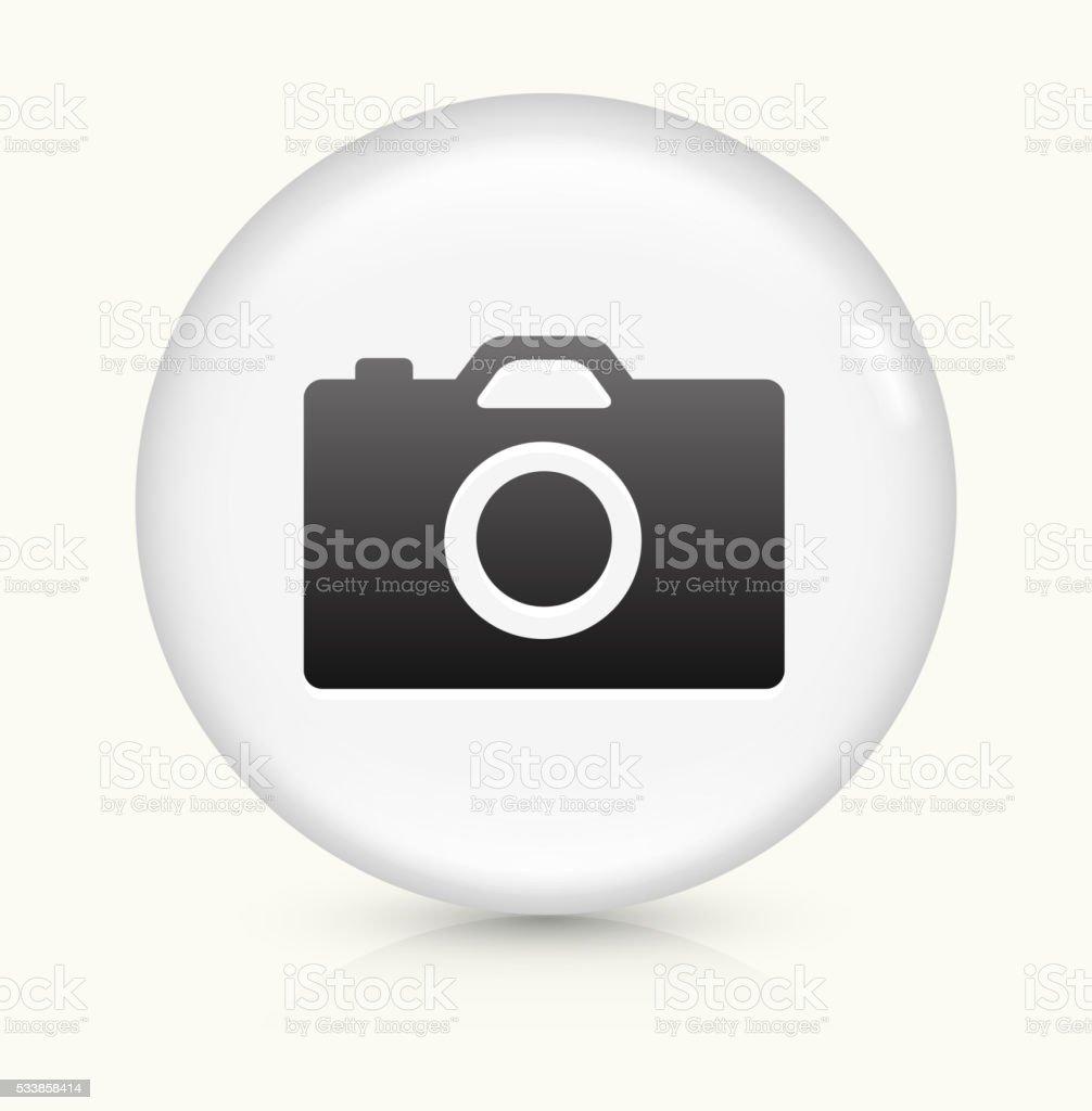 Digital Camera icon on white round vector button vector art illustration