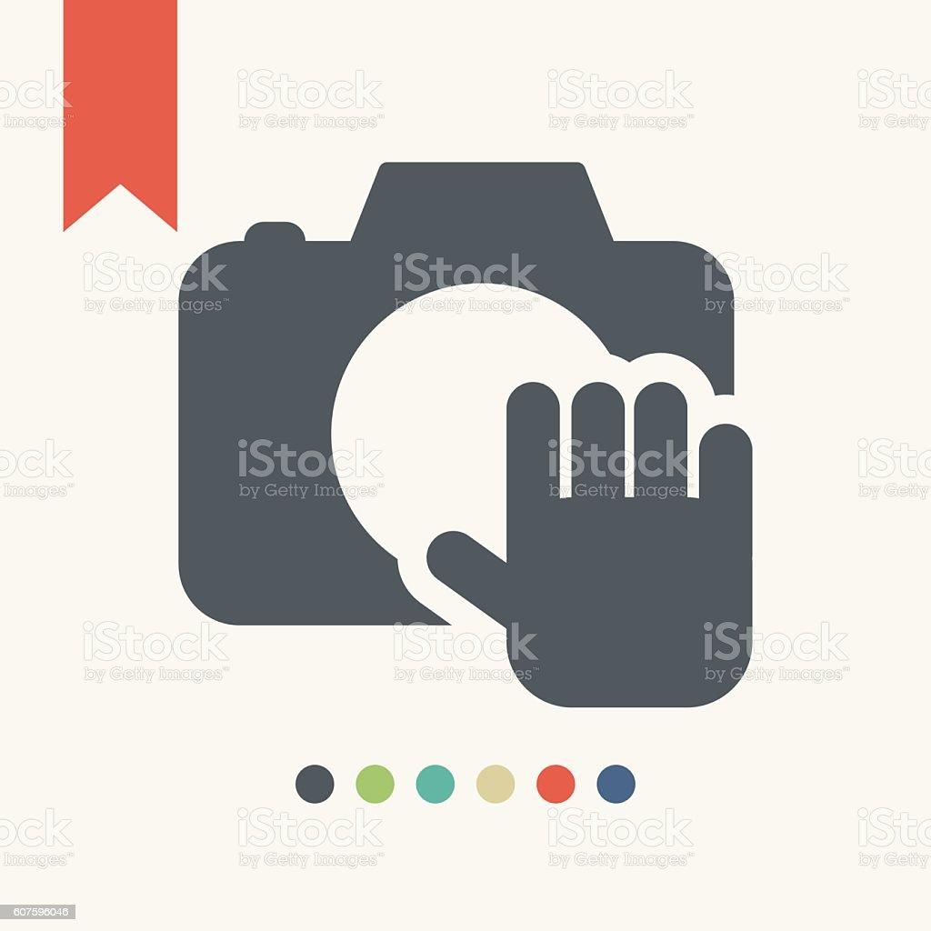 Digital camera icon vector art illustration