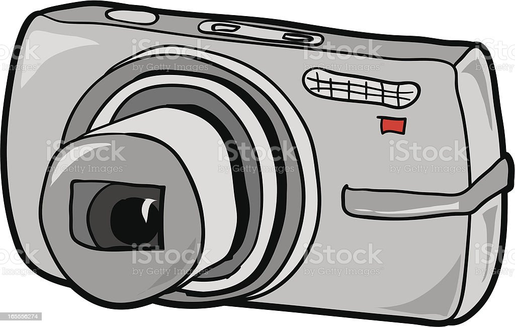 Digital Camera Illustration vector art illustration
