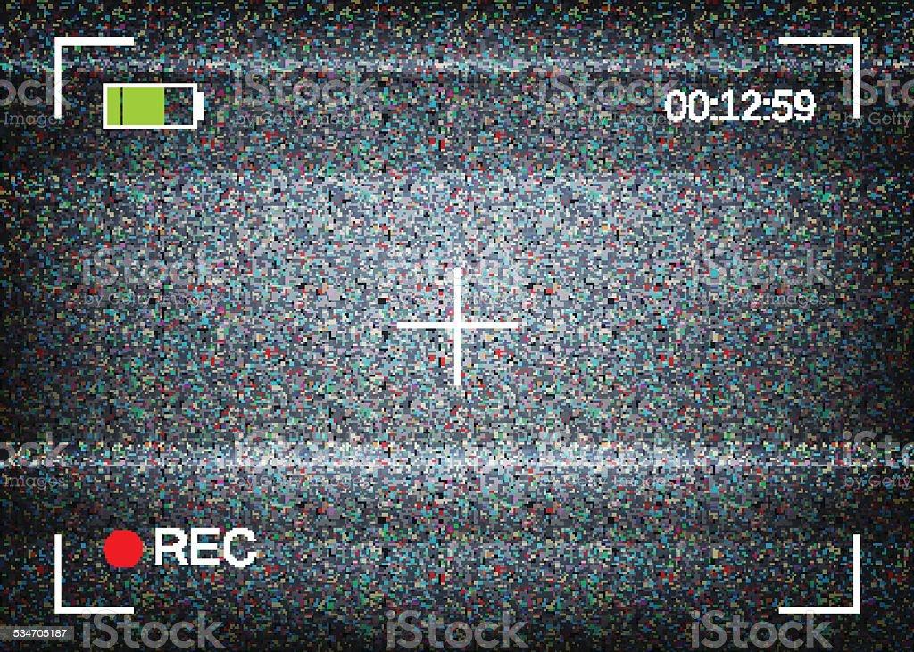 Digital camera viewfinder vector illustration vector art illustration