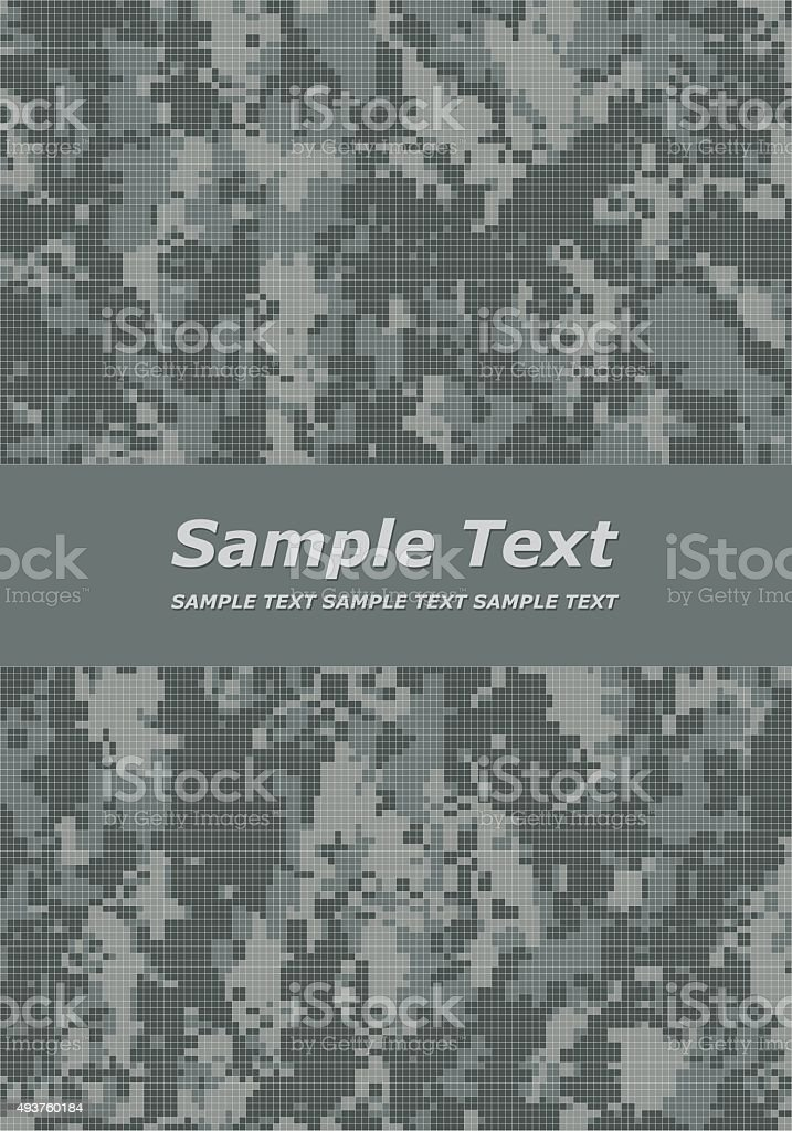 Digital camouflage cover page vector art illustration
