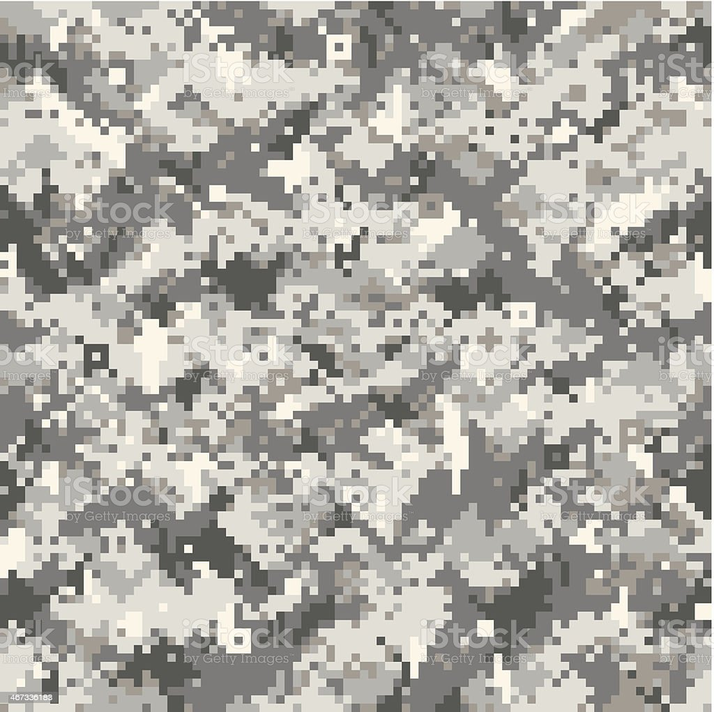 Digital camouflage vector art illustration