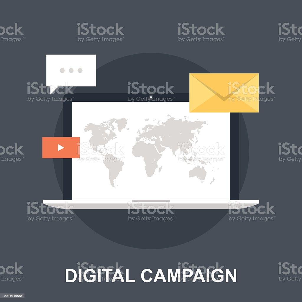 Digital Campaign vector art illustration