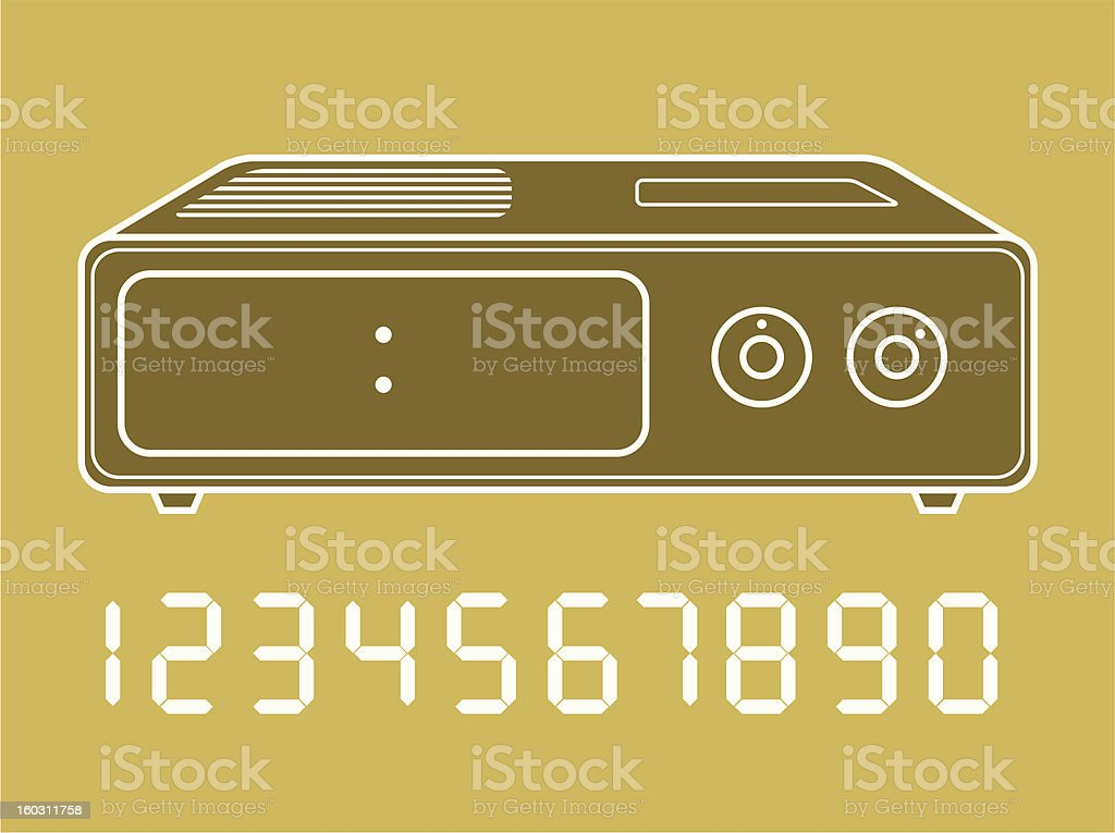 Digital clock with numbers royalty-free stock photo