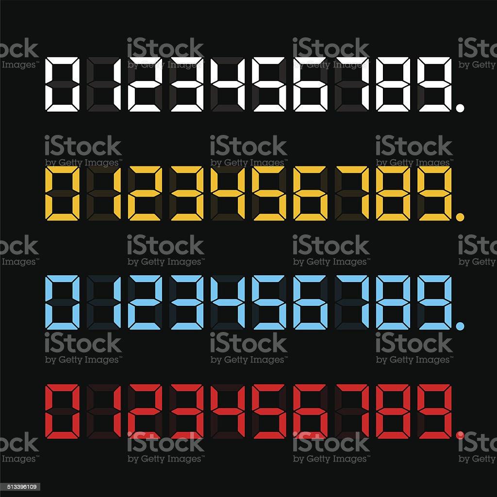 Digital Color Numbers vector art illustration
