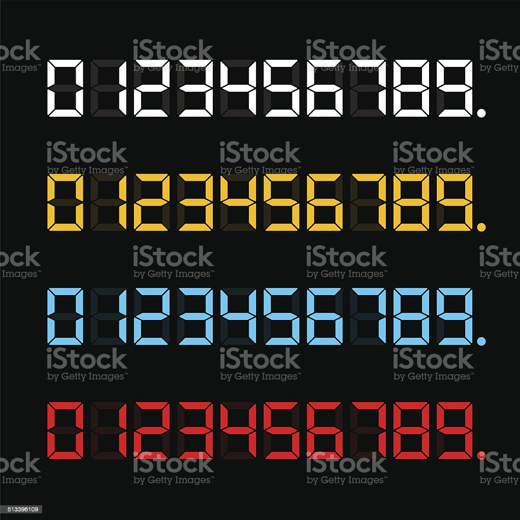 Digital Color Numbers vector art illustration