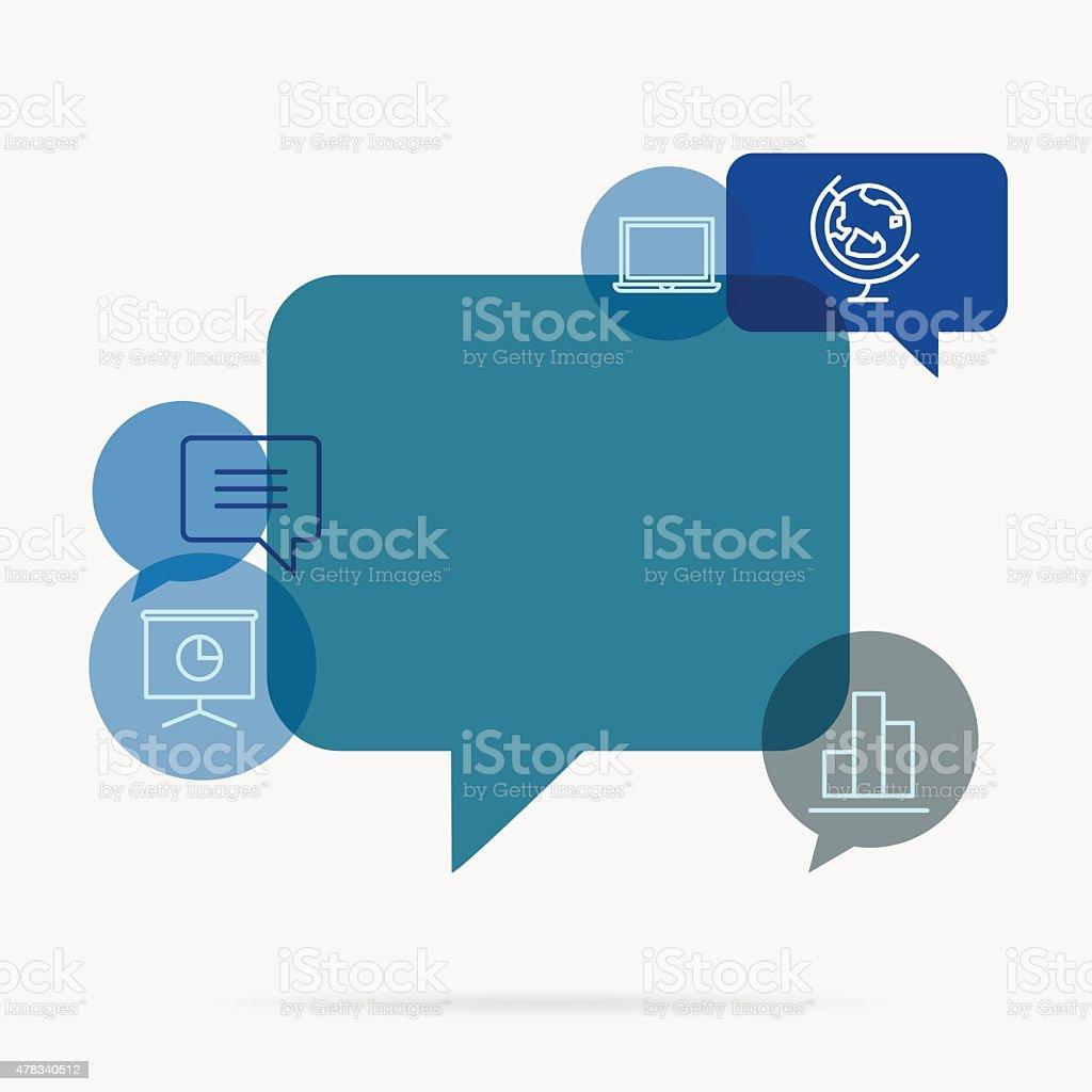 Digital communication background vector art illustration