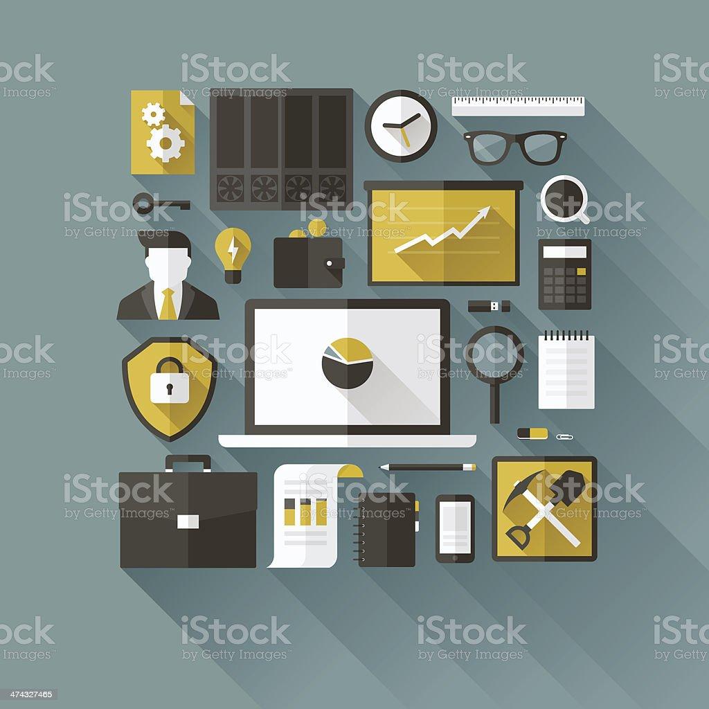 Digital currency modern flat design concept vector art illustration