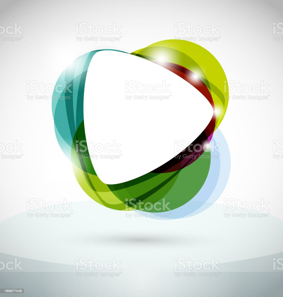 Digital design of abstract colorful play button icon royalty-free stock vector art