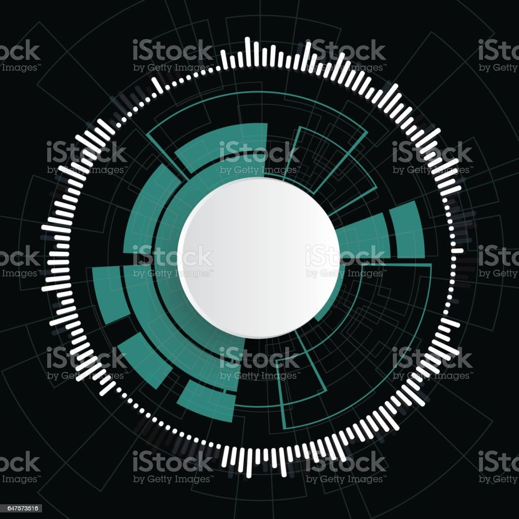 Digital equalizer as circle for radio. Vector illustrationDigital...